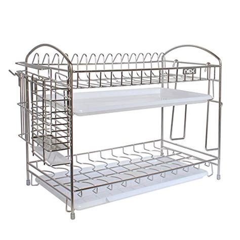 Sanken Dish Dryer Tipe 304 Nex Dish Rack 2 Tier Stainless Steel Dish Drainer Rack Do