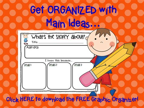 idea organizer first grade main idea graphic organizer 1000 images