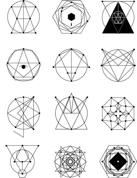 geometric shape tattoo designs geometric images designs