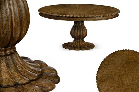 pedestal oak table round oak pedestal table for kitchen or dining room