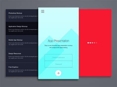 mobile app presentation phone application presentation mockup