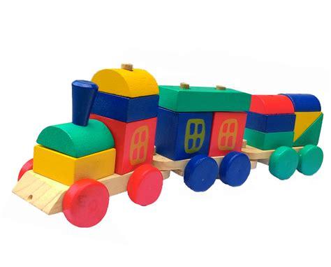 Balok Kereta Geometri Alat Peraga Edukasi Mainan Kayu kereta kayu balok susun mainan eduka pusat mainan mendidik dan aman mainan eduka pusat