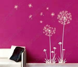 Dandelion Wall Art Stickers Dandelions Interior Wall Decal Vinyl Sticker Art For Home