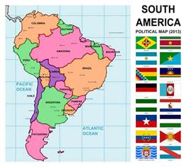 south america map with flags beneath the wraps learning geography part 2 south
