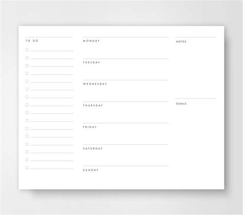 weekly to do calendar template weekly planner to do list weekly calendar planners