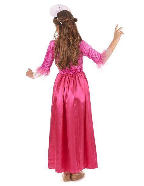 prinzessinnen kinderkostuem fuer maedchen rosa goldfarben