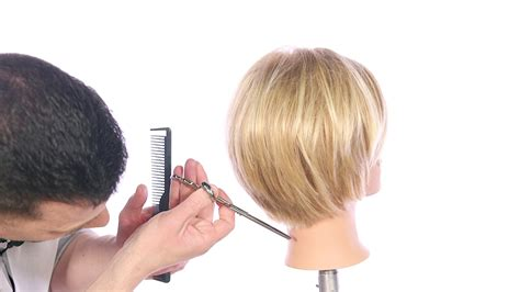 hairstyles that r short n back long n frontand sides how to cut a textured bob haircut thesalonguy youtube
