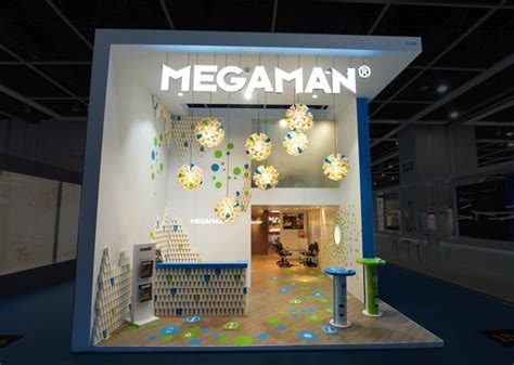 exhibition booth design hong kong megaman booth by uniplan hk at hk lighting fair 2014 hong
