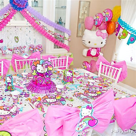 kitty birthday themes hello kitty party table idea party city