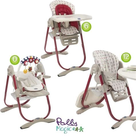 chaise chicco polly magic 3 en 1 chicco chaise haute polly magic pois pois achat vente