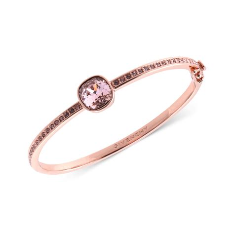 Givenchy Rose Goldtone Swarovski Cushioncut Crystal Stone Bangle Bracelet A Macys Exclusive in