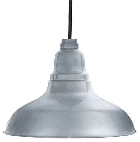 Galvanized Pendant Barn Light 12 Quot Dahlia Led Pendant Barn Light In Galvanized Silver With Black Downrod Cocoweb