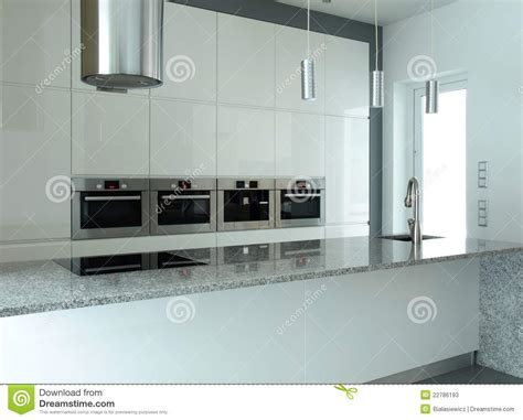 built in kitchen appliances white kitchen with built in appliances stock photos