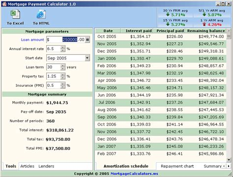 mortgage payment calculator v1 0 free