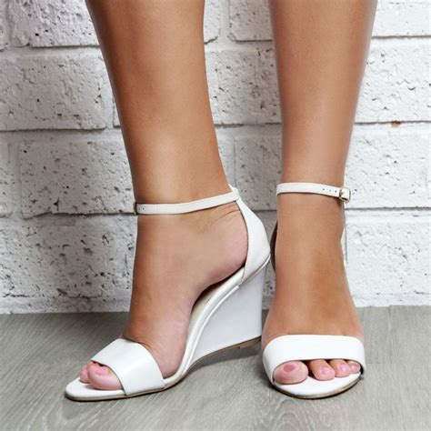 Bridal Slippers With Heel by 25 Best Ideas About Wedge Wedding Shoes On