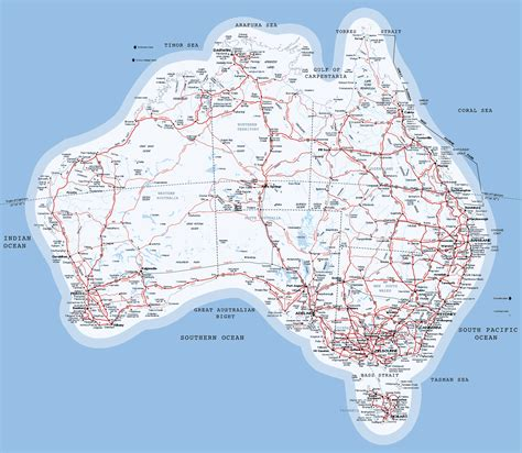 printable australian road maps my picture album