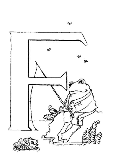 coloring pages for kids letter quot f quot coloring pages for kids