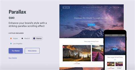 shopify themes parallax the best shopify themes how to pick the perfect shopify theme