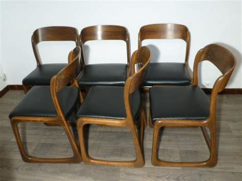 chaise baumann traineau 6 chaises baumann modele quot traineau quot 1965