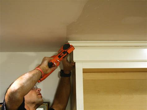 Attaching Crown Moulding Kitchen Cabinets by How To Install Cabinet Crown Molding How Tos Diy