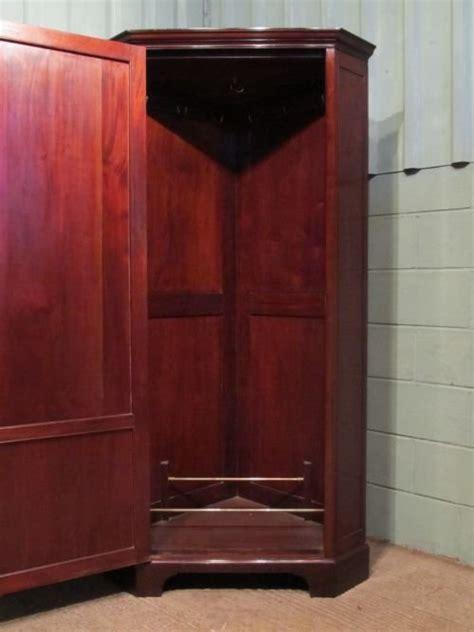 Corner Wardrobe Cabinet by Antique Edwardian Mahogany Corner Wardrobe Cabinet C1900
