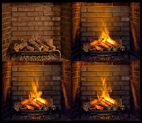 Electric Fireplace Logs Dimplex 28 Inch Opti Myst Electric Fireplace Insert Log Set Dlgm29