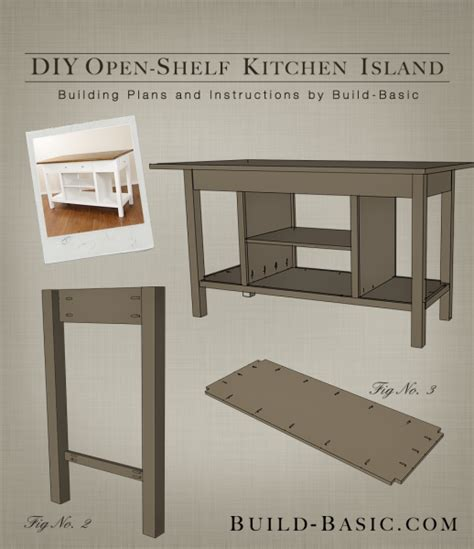 kitchen island plans build a diy open shelf kitchen island build basic