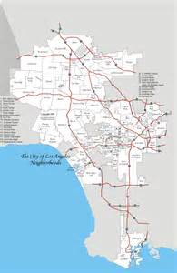 Los Angeles On Map by City Of Los Angeles Map