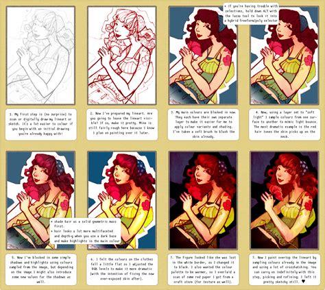 digital art coloring page digital colouring tutorial by glittervolt on deviantart