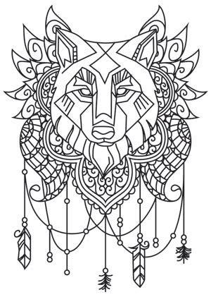 geometric wolf coloring pages pinterest ein katalog unendlich vieler ideen