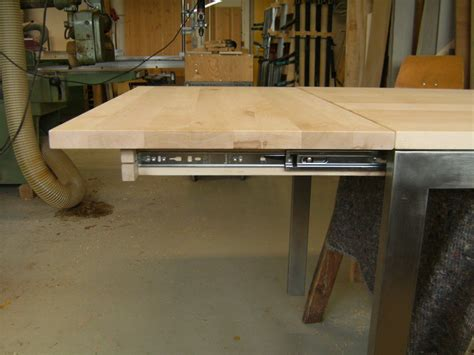 uitschuifbaar tafelblad maken uitschuifbare tafel maken msnoel