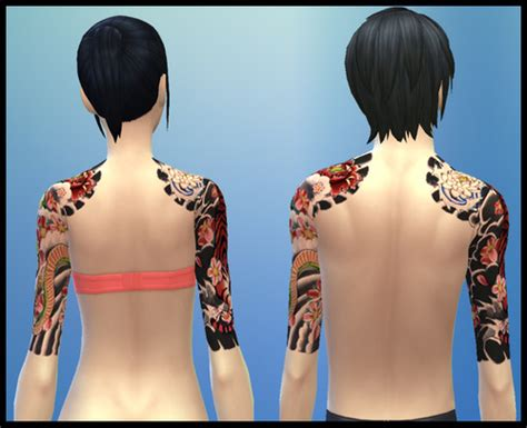 yakuza tattoo sims 4 gefasims japanese sleeve tattoo