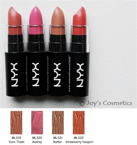 Lipstick Mls Nyx 22 nyx matte lipstick mls quot 22 color set quot s cosmetics ebay