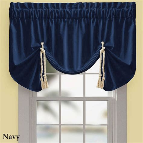 Tie Up Valances Regalia Sail Tie Up Window Valance By Croscill