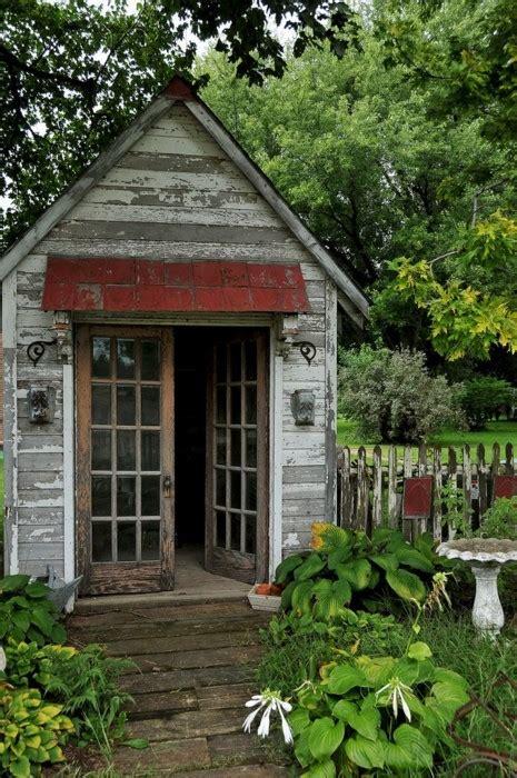 Rustic Potting Sheds by Garden Sheds The Seasoned Homemaker