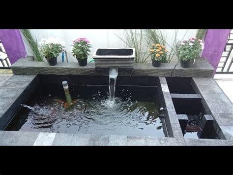 pembuatan kolam ikan koi sederhana youtube
