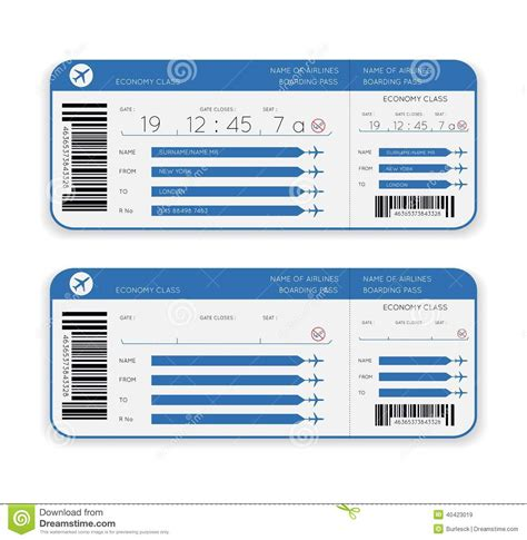 American Airlines Background Check Airline Boarding Pass Ticket Stock Vector Image 40423019