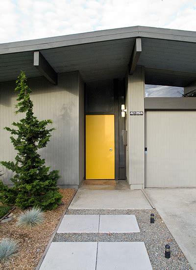 rejuvenation mid century modern eichler home yellow gray mid century modern