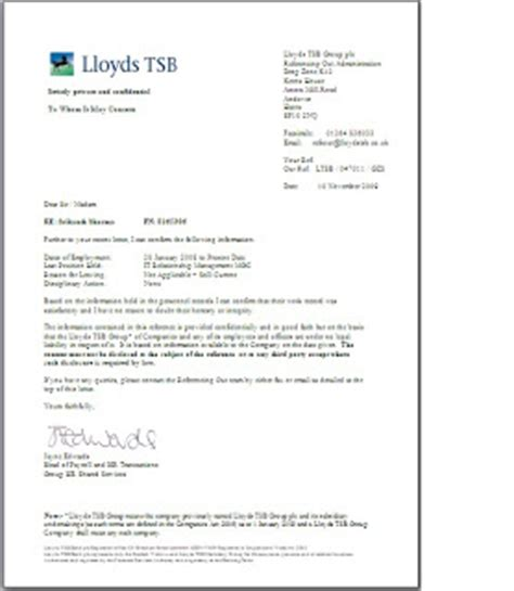 Letter Of Credit Lloyds Bank Officestuff Reference Letter Lloyds Banking November 2009