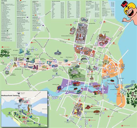 singapore map tourist attractions แจกฟร แผนท รวมสถานท ท องเท ยวยอดฮ ตของส งคโปร ตะลอน