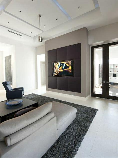 tv wand gestalten tv wandpaneel 35 ultra moderne vorschl 228 ge archzine net