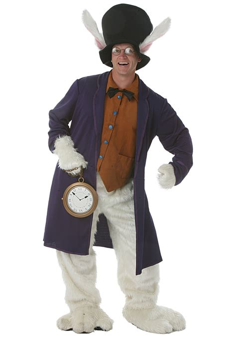 in costume plus size white rabbit costume