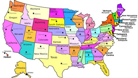 usa map states capitals and major cities usa map with states capitals and major cities maps of us