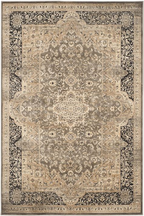 rugs safavieh safavieh vintage vtg574d taupe and black area rug free shipping