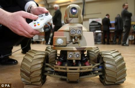 army  robots inspected  defence exhibition daily