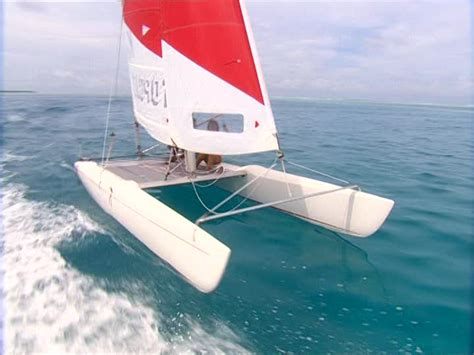 catamaran boat video catamaran leisure time sd stock video 962 681 496