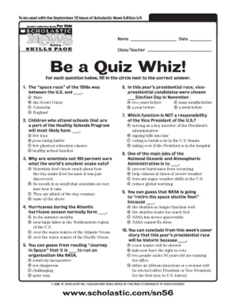 printable news quiz news quiz answers