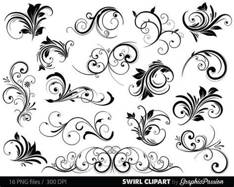 Wedding Border Brushes Photoshop by Swirls Clipart Digital Swirls Clip Vector Swirls