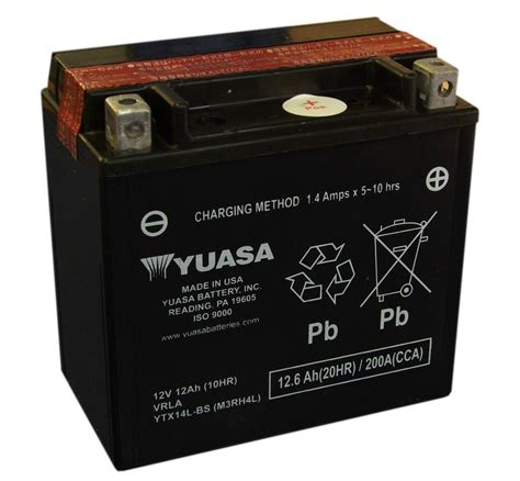 Motorrad Batterie Harley by Yuasa Ytx14l Bs Motorcycle Battery For The Harley Davidson