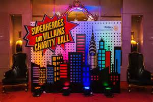 Superhero Table Centerpieces by Superhero Themed Party Chunky Onion Productions Ltd